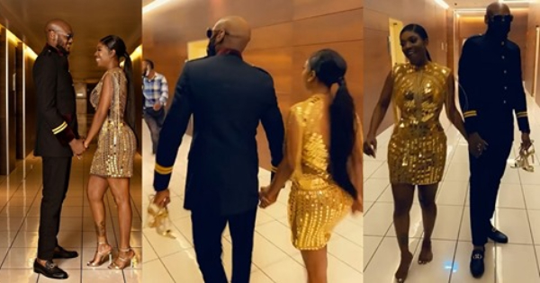 2baba held wife's Shoes, Annie idibia