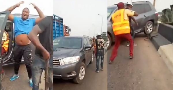 Driver knocks policeman off bridge in Lagos