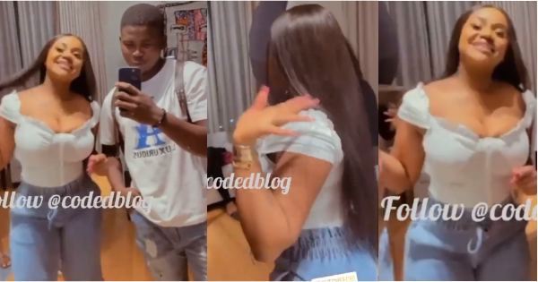 Chioma dances to Wizkid's song